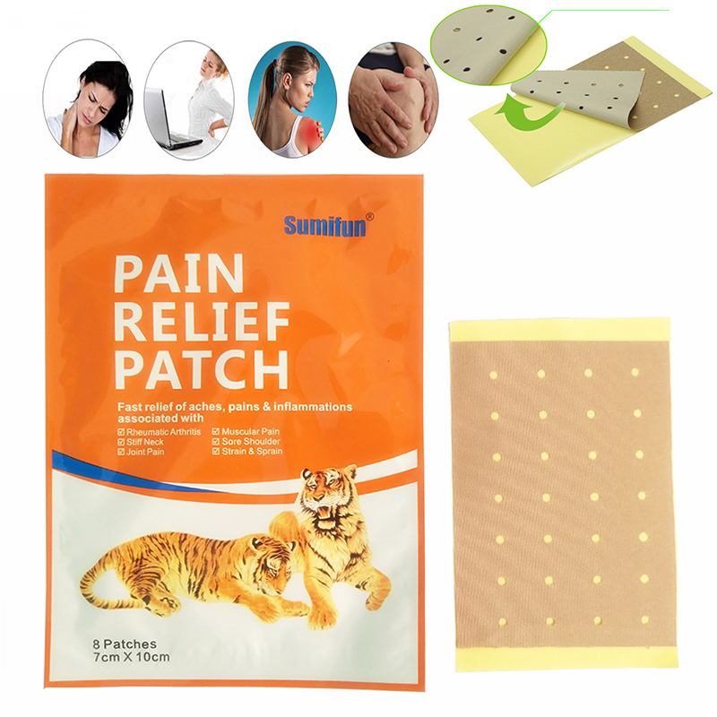 8 Pcs Tiger Pain patch Far IR Treatment Porous Chinese Medical Plaster Shoulder Waist Leg Joint Relief Tiger Pain patch