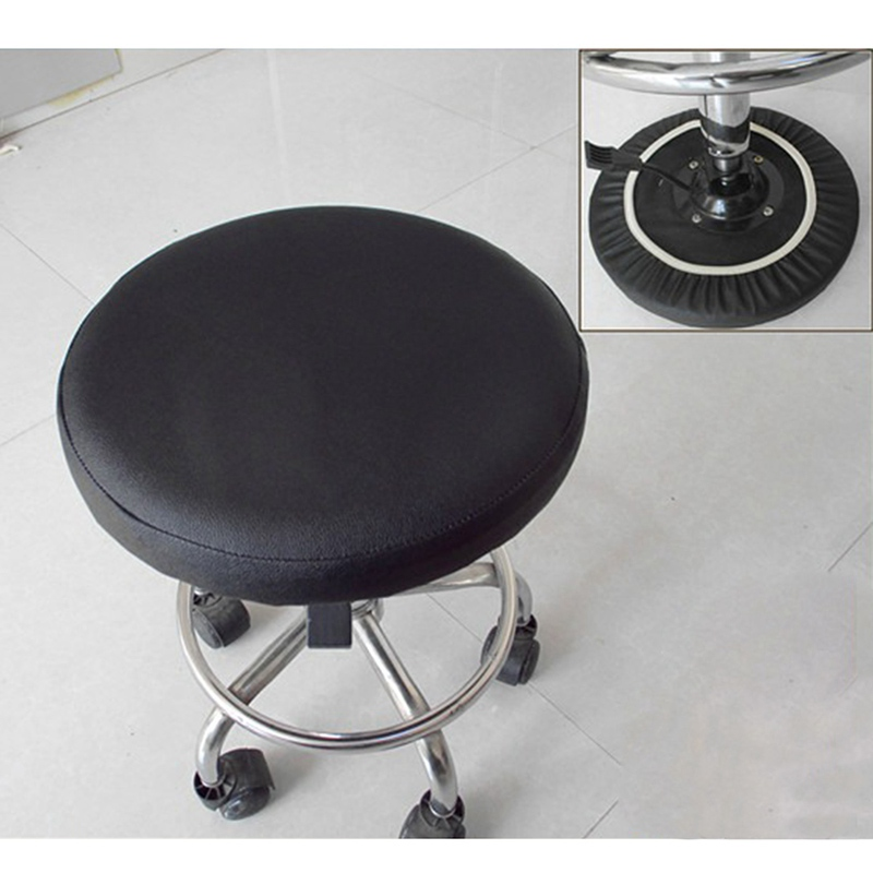 Superb Us 5 31 30 Off Stool Cover Faux Leather Round Chair Cover Dental Chair Cover Elastic Seat Slipcover Dining Chair Slipcover Solid Color In Chair Uwap Interior Chair Design Uwaporg