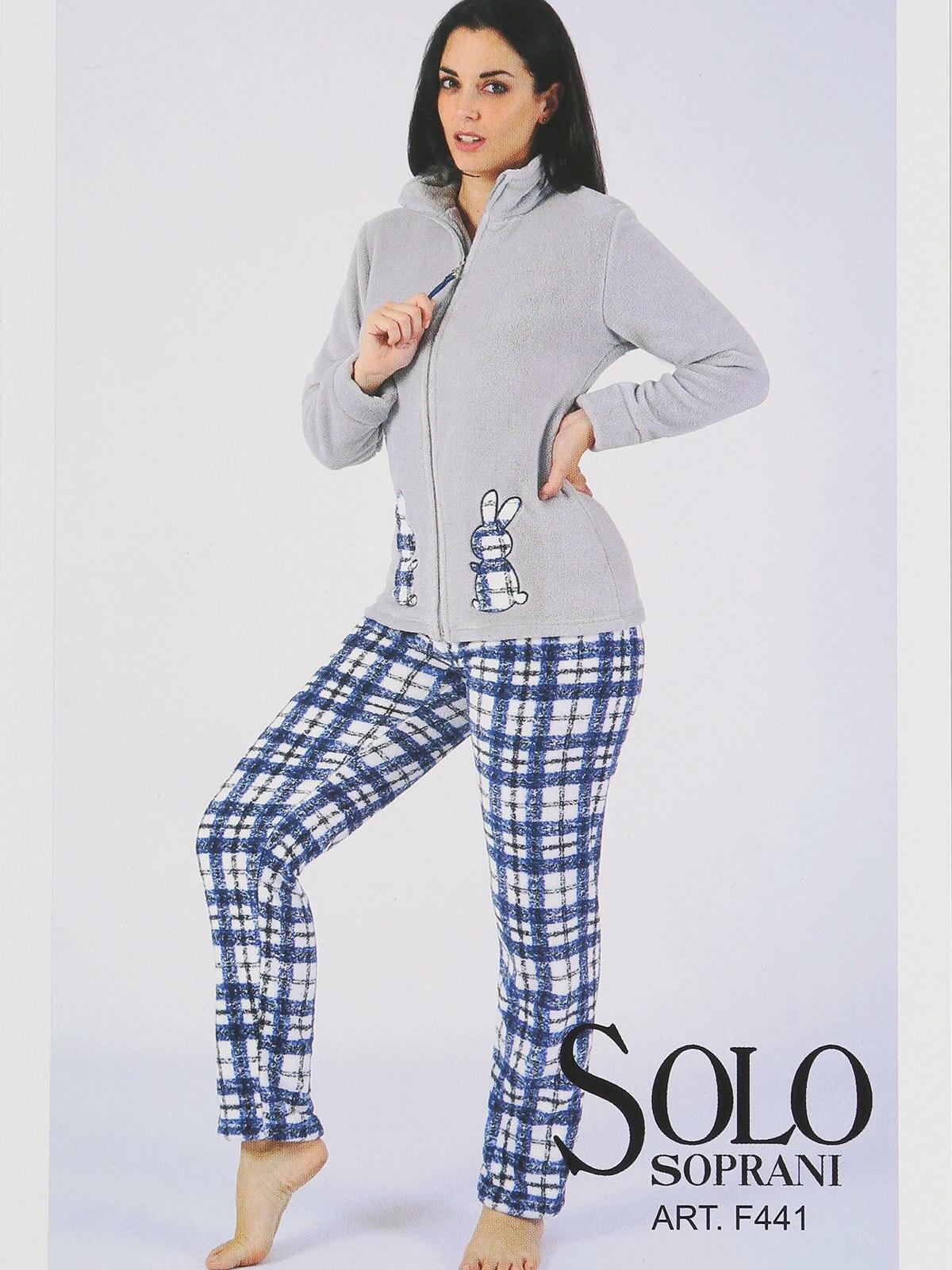 Pajamas Open Fleece With Embroidery