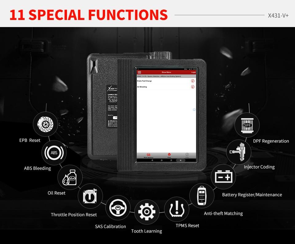 Image 2 - Launch X431 V + X431 V Plus автомобильные Инструменты OBDII диагностический сканирующий инструмент полная система Wifi Bluetooth OBD OBD2 сканер программатор ЭБУ-in Анализатор двигателя from Автомобили и мотоциклы