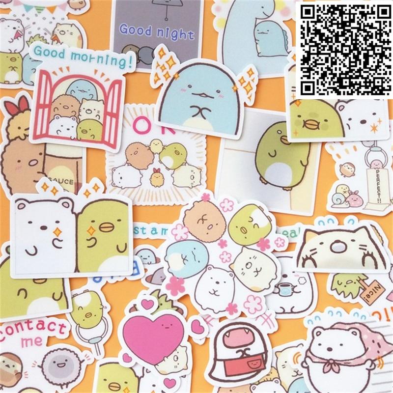 20 Pcs/Bag Cute mini beanie paper sticker package DIY diary decoration sticker album book kids toys scrapbooking stickers
