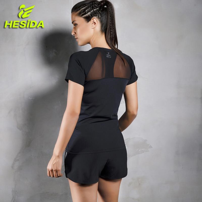 Dames 2 stukken T-shirt & korte broek sport fitness set 2-delig - Sportkleding en accessoires