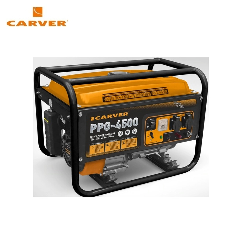 Petrol power generator CARVER PPG-4500 Power home appliances Backup source during power outages Benzine power stations стоимость