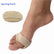 Купить с кэшбэком SpringYard (2 pairs/lot) Gel+Fabric Metatarsal Pads Forefoot Pad Corn Callus Cushion Soft Foot Care Insoles Men Women