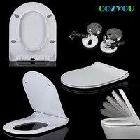 COZYOU мочевиноформальдегидный U форма унитаза керамическая текстура медленно закрыть быстрое удаление sofe Закрыть Туалет крышка для емкостей
