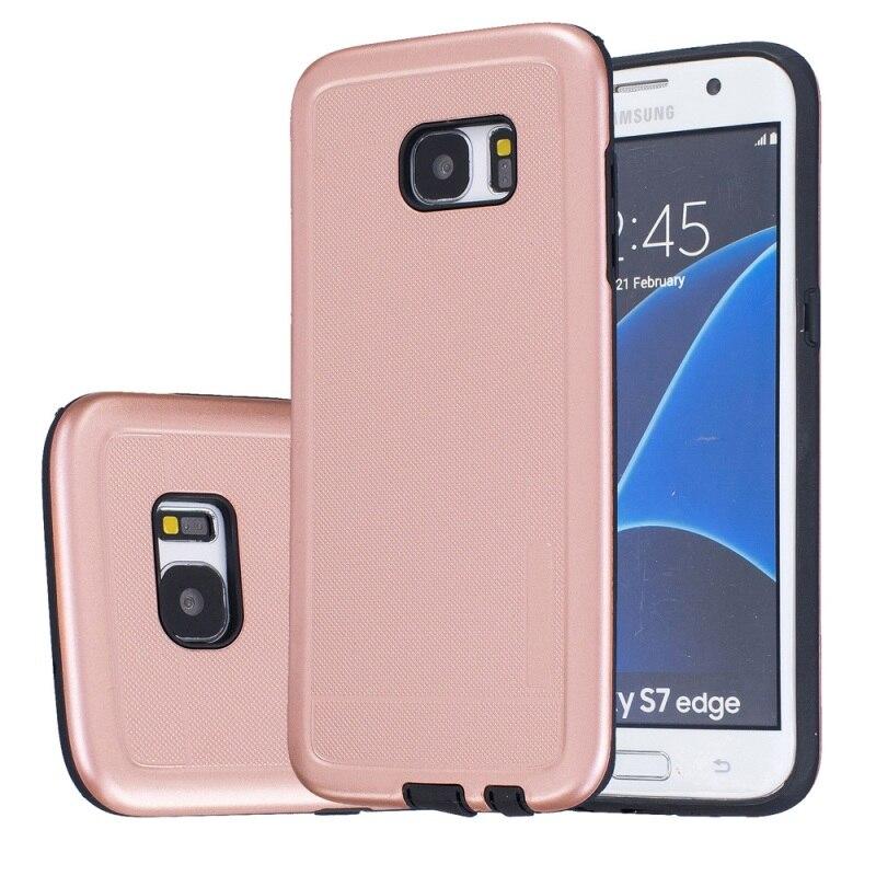 Cajas Del Teléfono celular para la Galaxia S7 borde G935 Híbrido Casos Dot textu