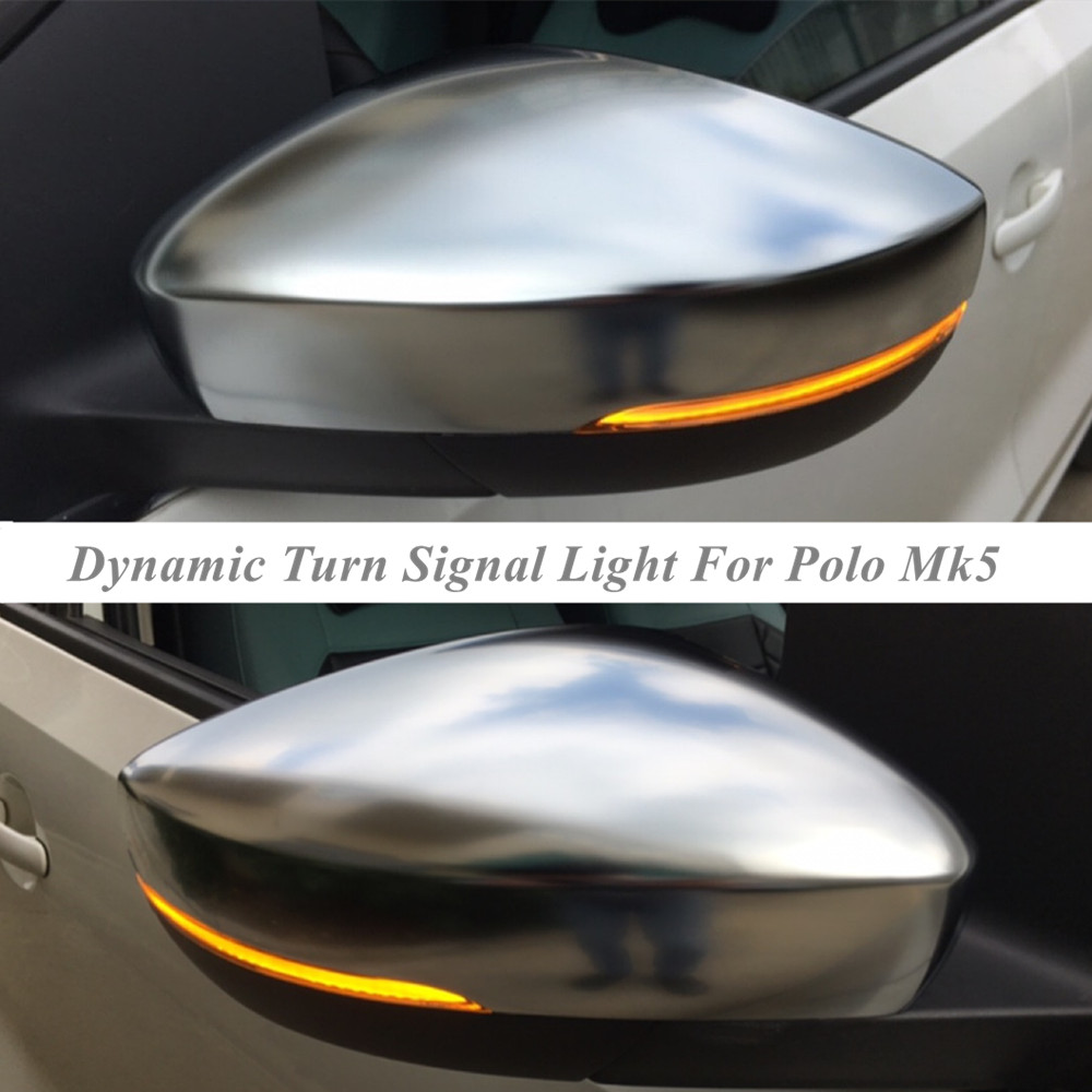 Rearview-Mirror-Indicator-Light Polo Dynamic Blinker Turn-Signal Volkswagen For VW LED