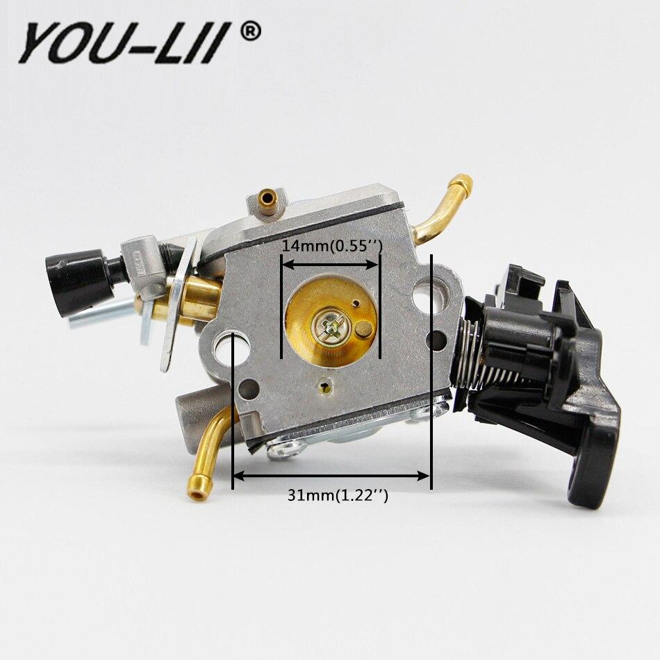 YOULII For Husqvarna 445 450 Carburetor E JONSERED CS2245S 506450401 Carb Chainsaw For Zama C1m-el37b