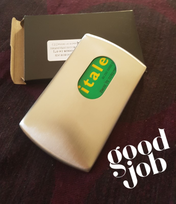 New Thumb Slide Out Stainless Steel Pocket Business Credit Card Holder Case Lucky photo review