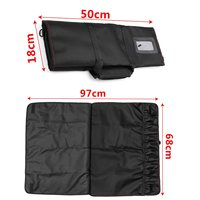 Black Chef Knife Bag Roll Bag Kitchen Pack Oxford Cloth 12 Pocket without Knife Large Size Portable Carry Case Chef Roll Bag