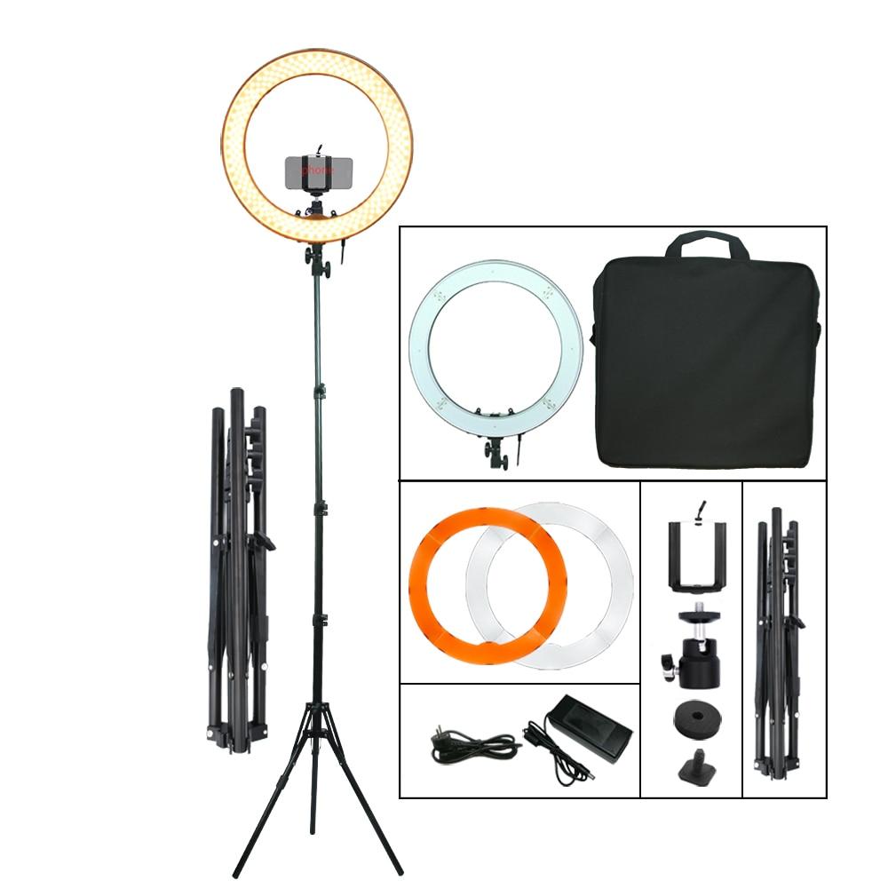 Kamerafoto Studio Telefonvideo 55W 240PCS LED Ringlampa 5500K 18 - Kamera och foto