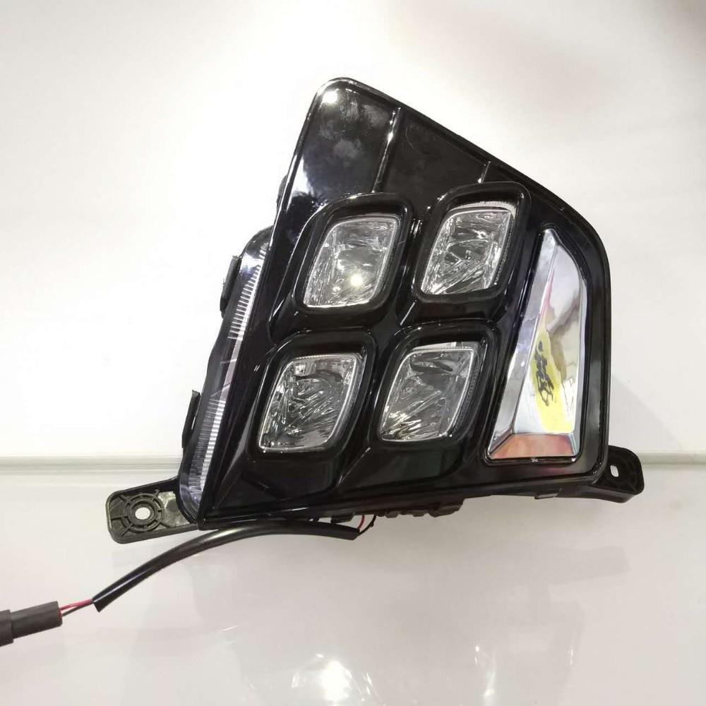 For Hyundai Creta IX25 2014 2015,Turn Yellow Signal Relay Waterproof ABS Car DRL 12V LED Daytime Running Light Daylight car rear trunk security shield shade cargo cover for hyundai creta ix25 2014 2015 2016 2017 black beige