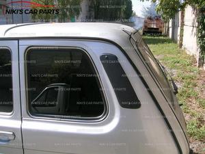 Image 5 - Крышки вентиляции для Lada Niva 4x4 1 комплект/3 шт. АБС пластик на капот и боковые стойки функциональные аксессуары для стайлинга автомобиля