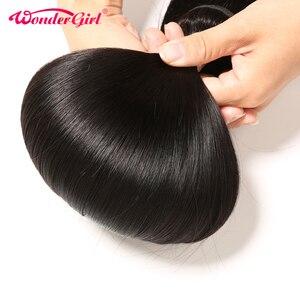 Image 5 - ברזילאי ישר שיער חבילות עם סגירת וונדר ילדה רמי שיער טבעי חבילות עם סגירת יכול להיות מותאם אישית לפאה