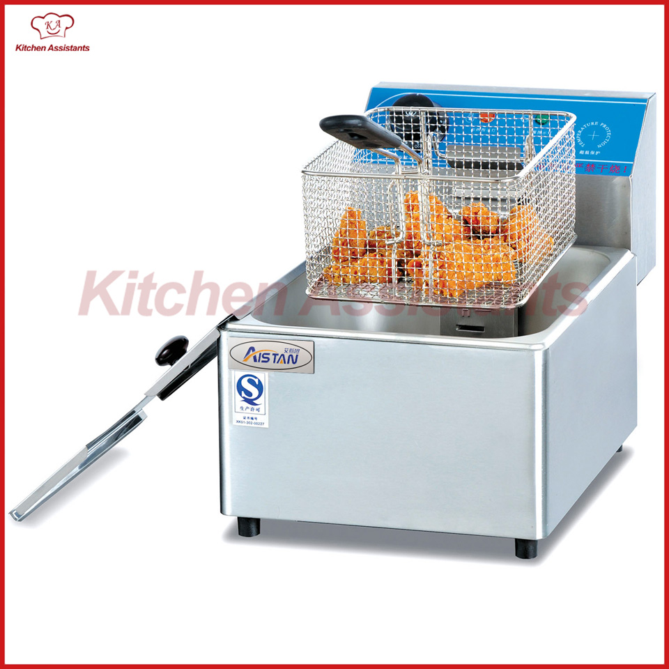 DF6L counter top electric deep oil fryer chip chicken fryer with 1 tank 1 basket for home commertical kitchen snake potato fryer 220v 3 2l lcd intelligent electric deep fryer oil free smokeless french fries machine for home using electric air fryer
