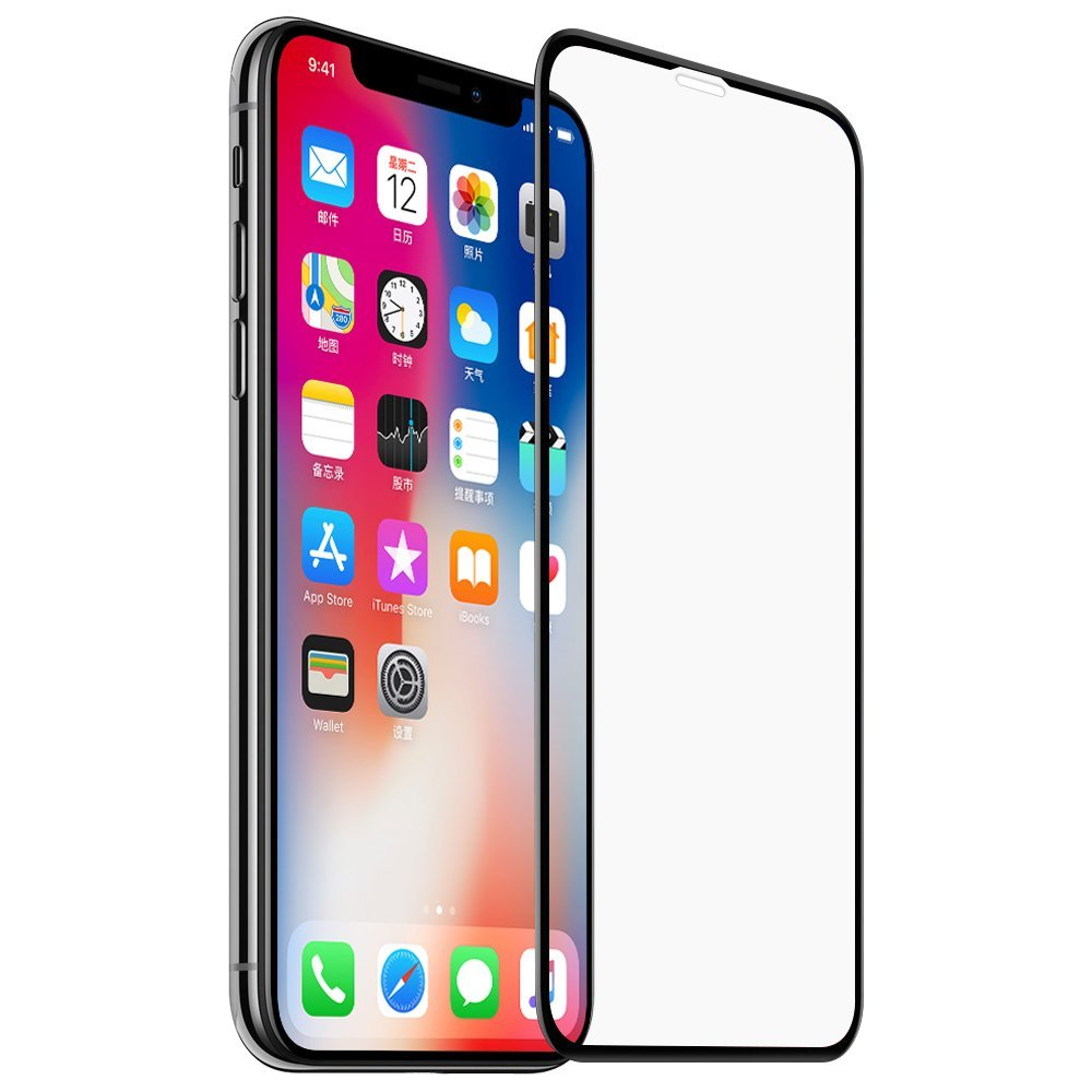 0.23mm 4D Curved Tempered Glass for iPhone X 10 Glass Edge High Definition Screen Protector For iPhone X Protective Film