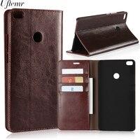 Luxury Retro Genuine Leather For Xiaomi MI Max 2 Case Crazy Horse Skin Flip Wallet Cover