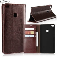 Luxury Retro Genuine Leather For Xiaomi MI Max 2 Case Crazy Horse Skin Flip Wallet Cover