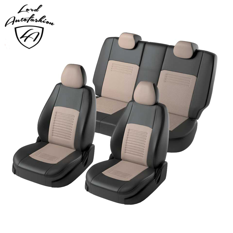 For Hyundai Getz GL 2005-2011 special seat covers with separate backrest 60/40 Model Turin Eco-leather недорого