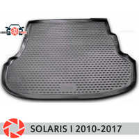 Trunk mat for Hyundai Solaris 2010-2017 trunk mat floor rugs non slip polyurethane dirt protection interior trunk car styling