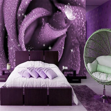 Rose bed murals specializing in the production of wallpaper custom photo wall