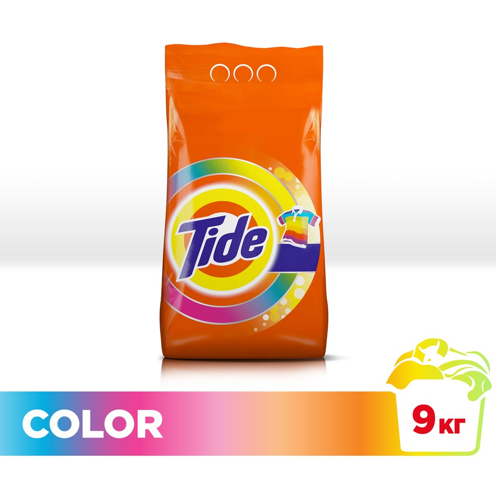 Laundry detergent Tide Automatic Color 60 wash 9 kg.