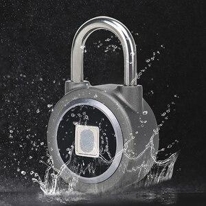 Image 3 - DAYTECH Bluetooth Смарт замок с отпечатком пальца, Электрический шкафчик для дверей, аккумуляторная батарея, Противоугонная защита для дома (L01)