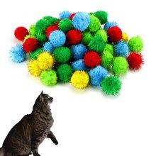 лучшая цена 30pcs/lot Assorted Color Sparkle Balls My Cat's All Time Favorite Toy