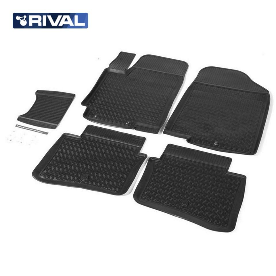 For Hyundai Solaris 2011-2016 floor mats into saloon 5 pcs/set Rival 12305001 tcrt5000 reflective infrared sensor photoelectric switches 10 pcs