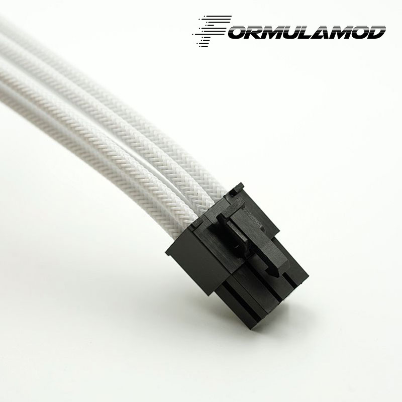 FormulaMod Fm-PCI6P-A, PCI-E 6Pin GPU удлинитель питания, материнская плата 18AWG 6Pin многоцветные соответствующие кабели расширения - Цвет лезвия: White