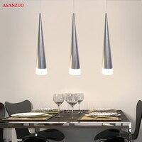 현대 간단한 led 펜 던 트 조명 5 w 현대 led 원추형 펜 던 트 램프 알루미늄 손 조명 식당 바 레스토랑 램프