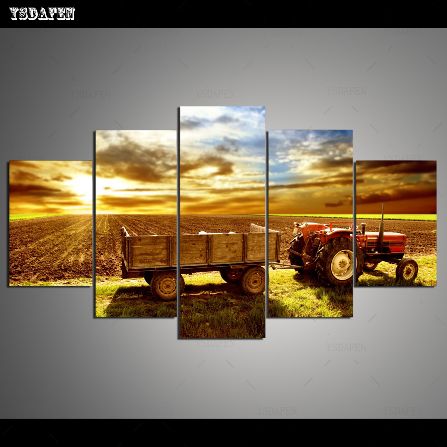 US $5 0 |Wall Art Canvas Painting 5 Piece Agriculture, Horticulture and  Tractors Wall Decor for Living Room Wall Art Picture Home Office-in  Painting &