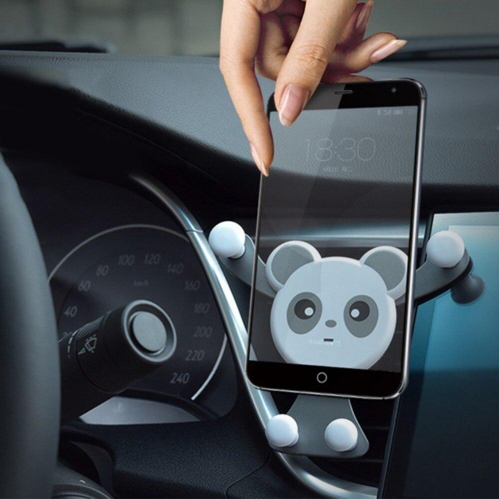 1 יחידות פנדה רכב מחזיק טלפון לשקע אוויר הצמד סוג אוניברסלי הכבידה חישה ניווט סוגר המכונית סטיילינג רכב אביזרי