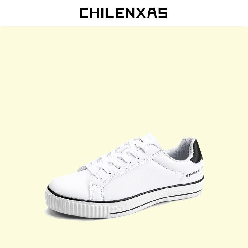CHILENXAS Spring Autumn Large Size 35 44 Leather font b Shoes b font Men font b