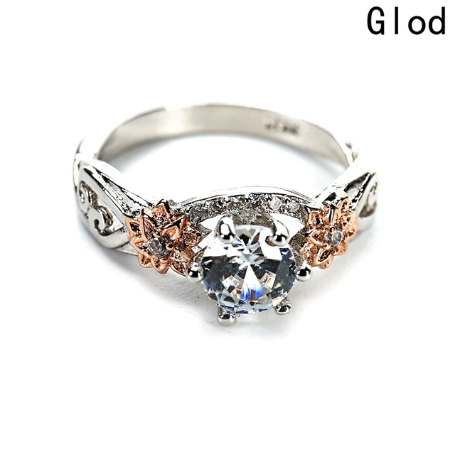 2018 New Style Fashion Women Wedding Ring Six Claws Zircon Bride