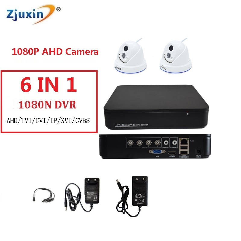 6IN1 4CH 1080N AHD DVR KIT 1080P plastic dome indoor Security Camera use 1080P 3.6MM Len 1pcs array led for AHD Cam Set 6in1 4ch 1080n ahd dvr kit 1080p sony sensor plastic dome indoor security camera use 1080p 3 6mm len 1pcs array led