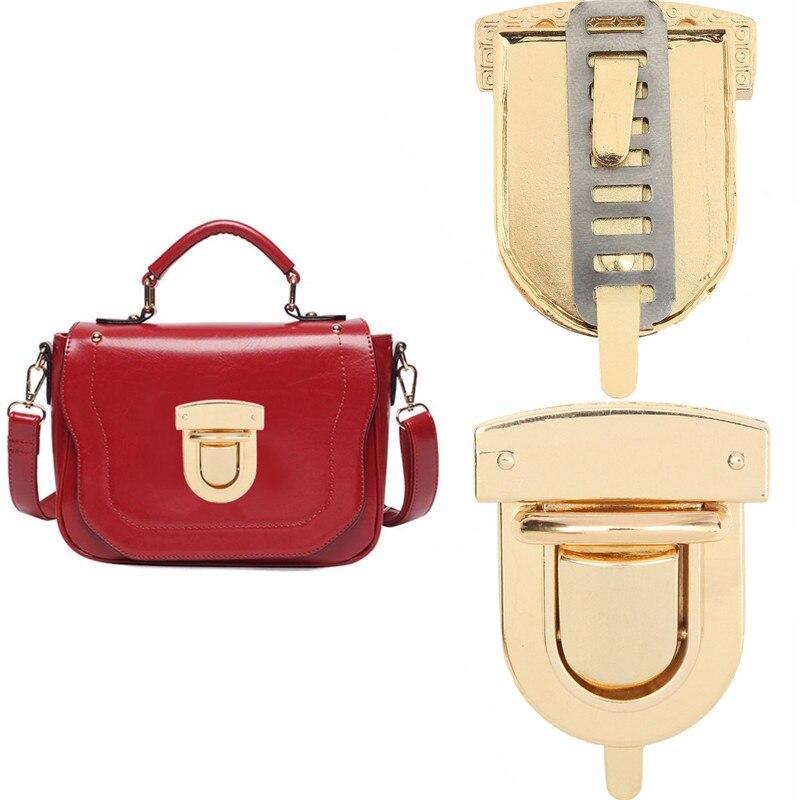 AEQUEEN 2017 Fashion Women Alloy Twist Turn Lock Snap Clasps Closure for Purse Handbag Bag Accessories