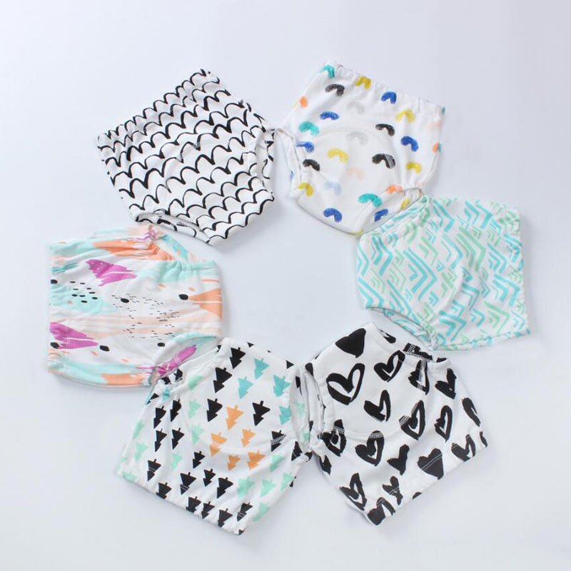 20PCS Wholesale Reusable Waterproof Baby Toilet Training Pants Cloth Diaper Nappy Panty Kids Toddler Underwear Underpants