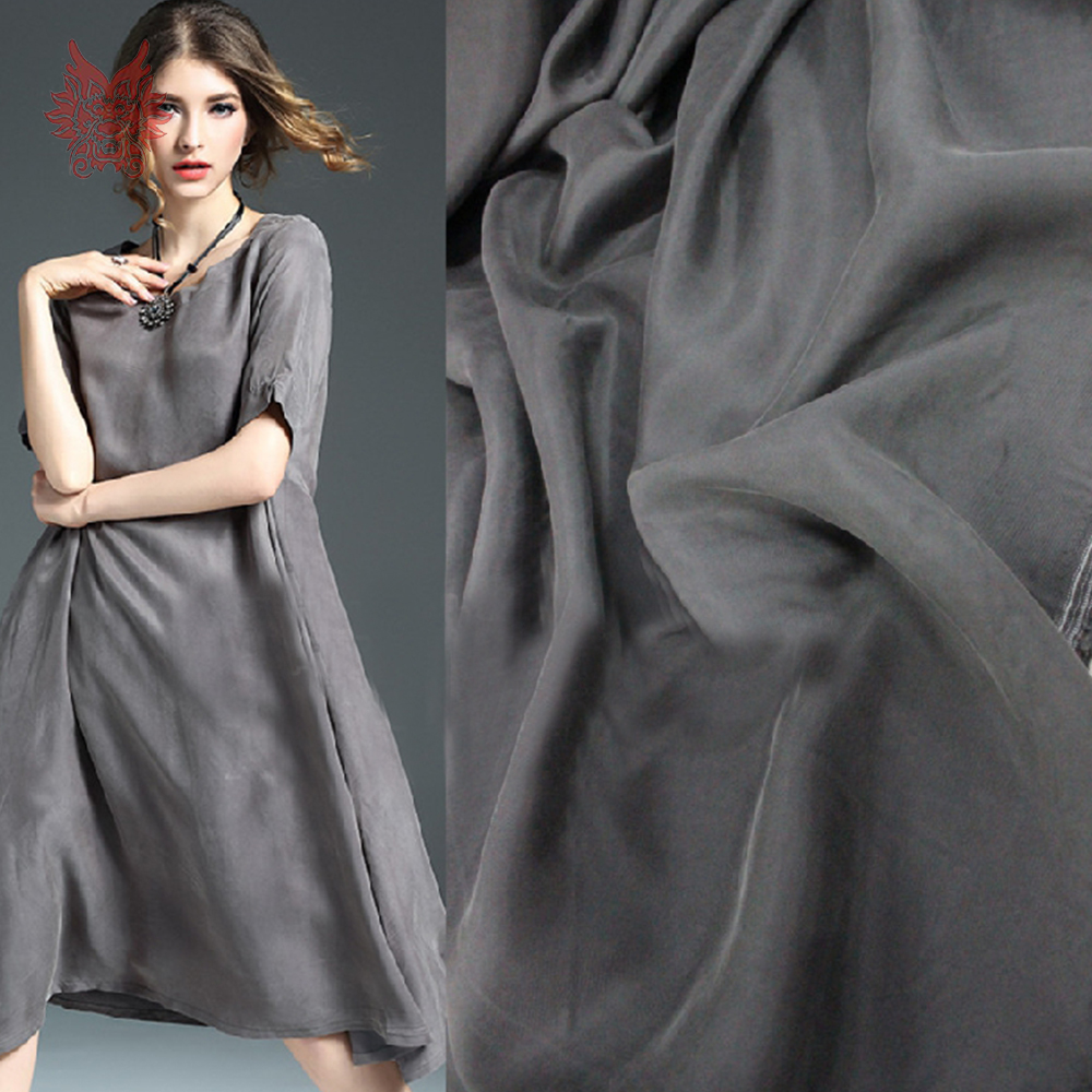 Chinese Cheap Fabrc Multi Color Solid Weighted 100% Cupro Sand Washed Fake Silk Fabric Apparel For Dress Telas Stoffen SP5409