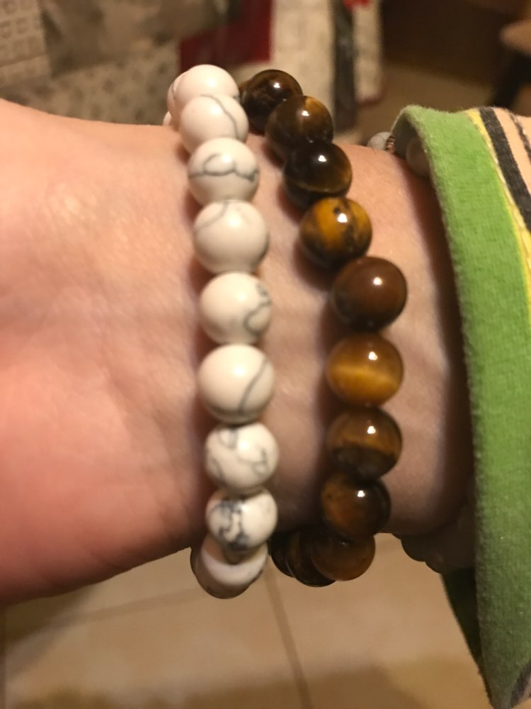 Tiger Eye Stone Couple Distance Bracelet photo review