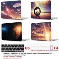 keyboard plastic case Color printing plastic Hard Case Cover Laptop Shell+Keyboard Cover For Apple Macbook Touch Bar 13 15 Air11 13 Pro Retina12 13 15 (2)