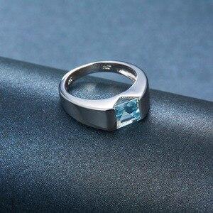 Image 5 - Lp Topaz Princess Cut 1.34 Karaat Vrouwen Ring Massief Zilver 925 Natuurlijke Edelsteen Ring Fijne Sieraden Anillos Plata 925 para Mujer