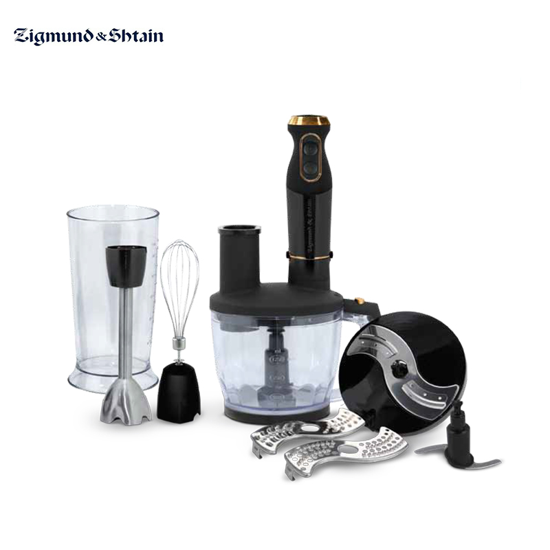 Blender submersible Zigmund & Shtain BH-340 M with chopper with whisk immersion kitchen electric for smoothies jiqi multifunction table electric food mixer table handheld egg beater blender for baking with 7 speed automatic whisk eu usplug