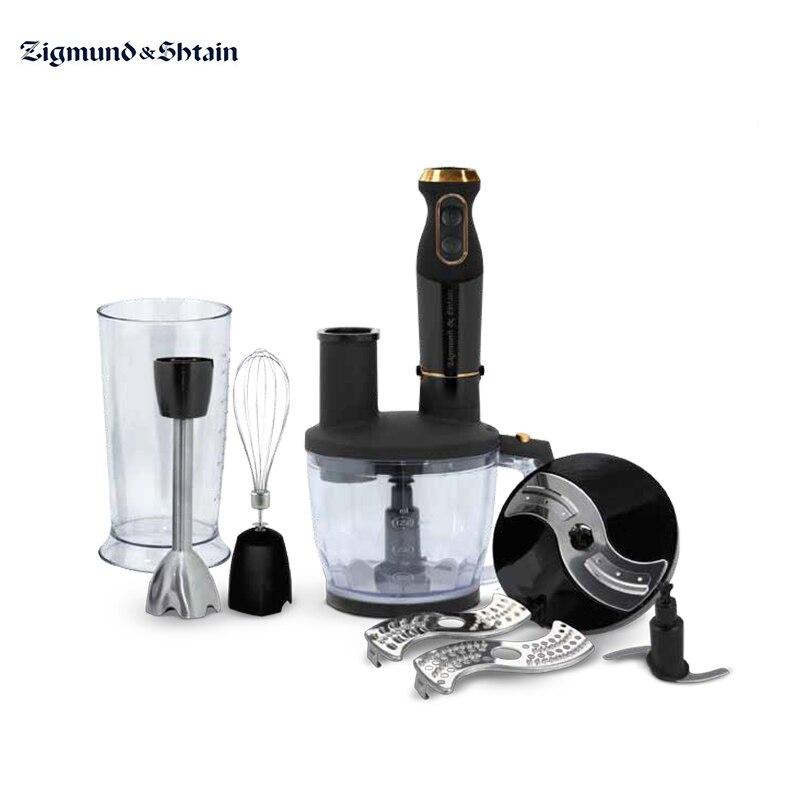 Liquidificador submersível zigmund & shtain BH-340 m com chopper whisk aparelhos de imersão para cozinha smoothies shredder máquina