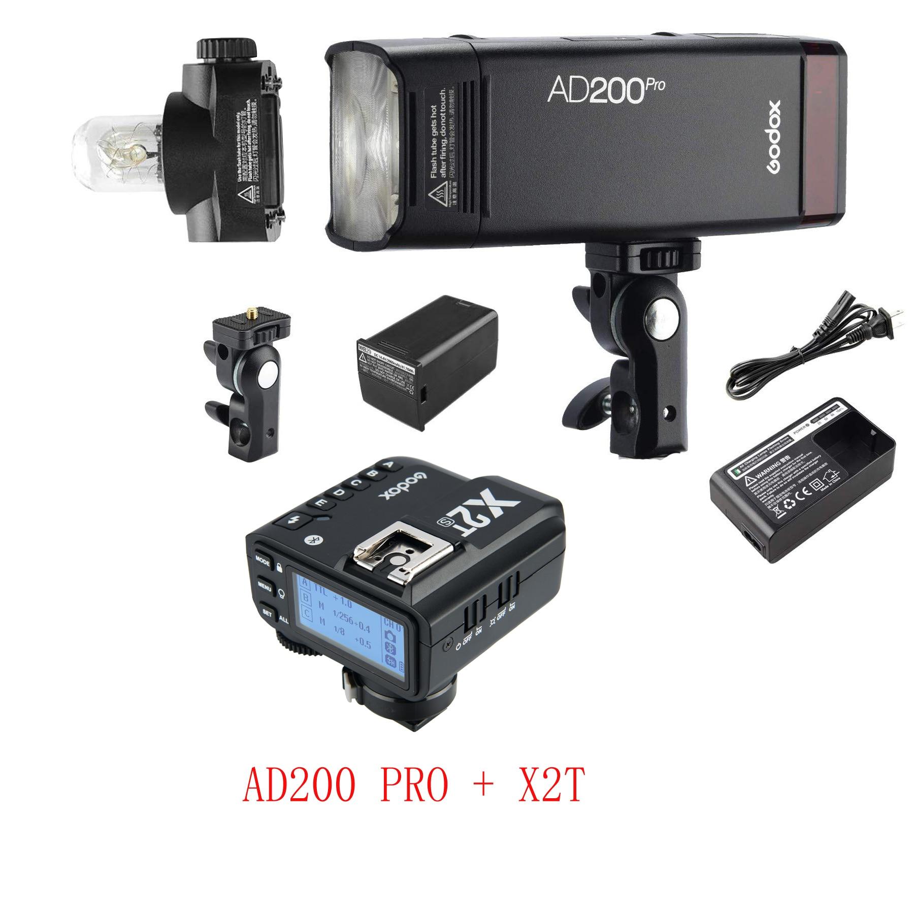 Godox AD200Pro 200ws TTL 2.4G 1//8000 HSS 500 Full Power Flash Speedlite with Godox XPro-F TTL Wireless Flash Trigger for Fuji Cameras