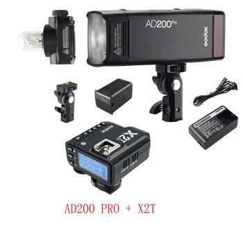 Godox AD200 Pro AD200Pro with X2T TTL Wireless Flash Trigger for Canon Nikon Sony Fuji Fujifilm Olympus