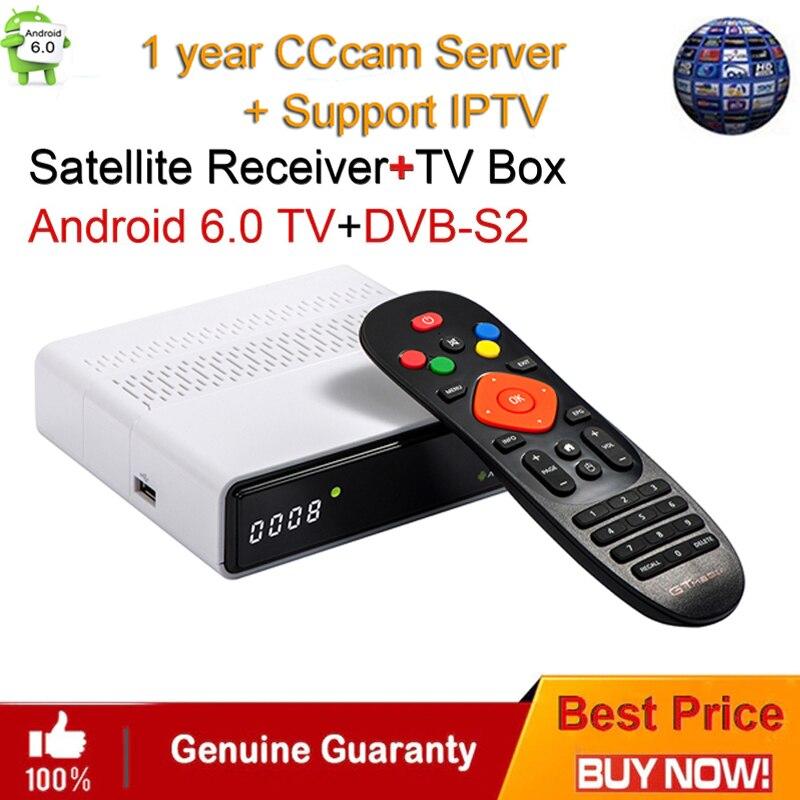 GTmedia GTS Android 6.0 4K TV BOX Combo DVB-S2 Satellite Receiver 2GB RAM 8GB ROM Amlogic S905D BT4.0 Smart Set Top box IPTVGTmedia GTS Android 6.0 4K TV BOX Combo DVB-S2 Satellite Receiver 2GB RAM 8GB ROM Amlogic S905D BT4.0 Smart Set Top box IPTV