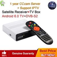 GTmedia GTS Android 6.0 4K TV BOX Combo DVB S2 Satellite Receiver 2GB RAM 8GB ROM Amlogic S905D BT4.0 Smart Set Top box IPTV