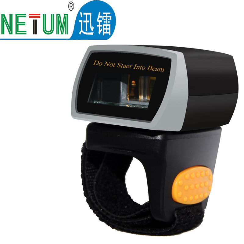 Portable Wearable 1D Bluetooth Ring Barcode Scanner Scanning Laser Code Bar Code Reader NETUM gs m100bt1d laser buletooth long distance mobile phone barcode scanner with ab1000 wearable armband