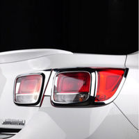 TEAEGG CHROME Rear Tail Light Lamp Cover TRIM 4PCS For Chevrolet Malibu 2013 2017